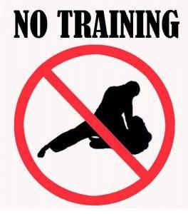 Geen training