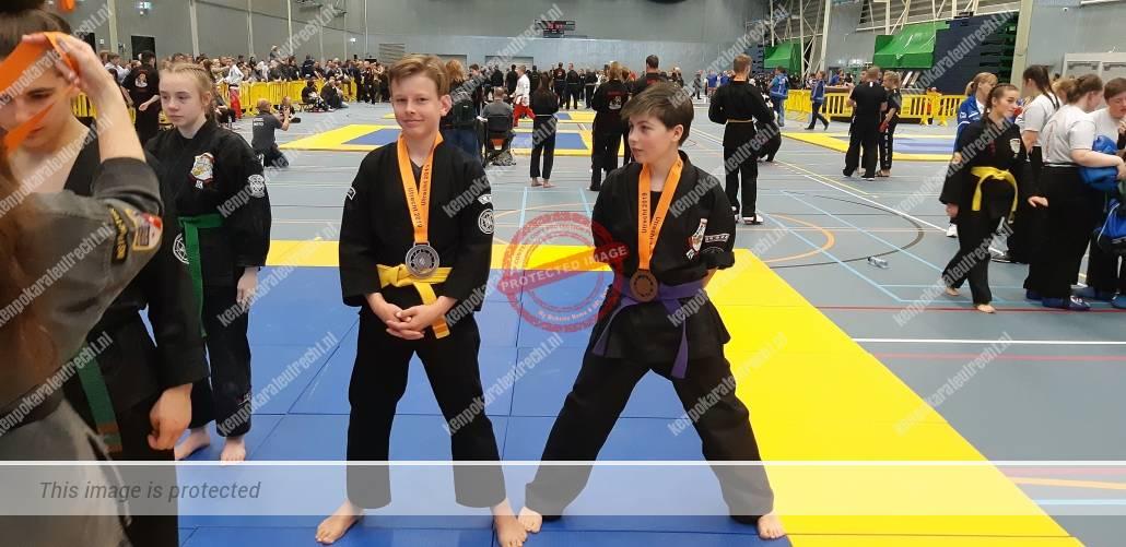 Luna en Chris medaille